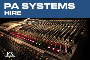 pa systems hire banner