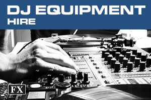 dj equipment hire banner