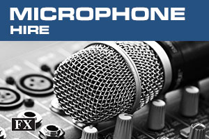 microphone hire banner